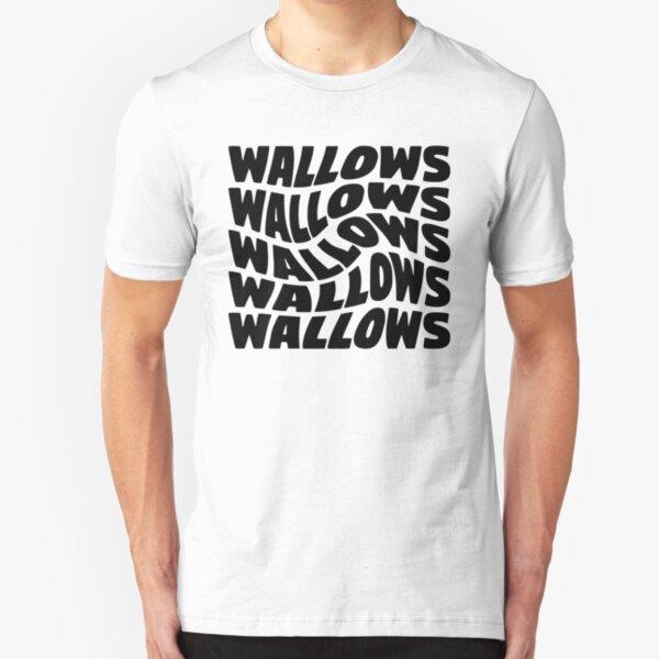 black wallows swirl design Slim Fit T-Shirt