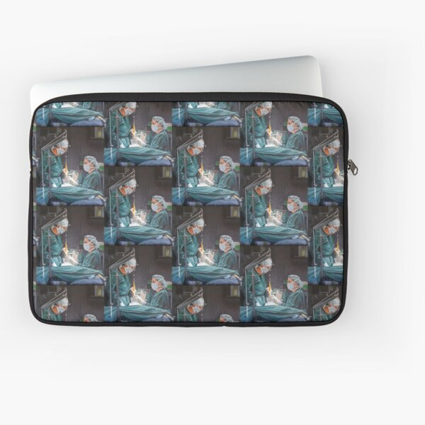 Healing Hands - Oil on canvas by Avril Thomas Laptop Sleeve
