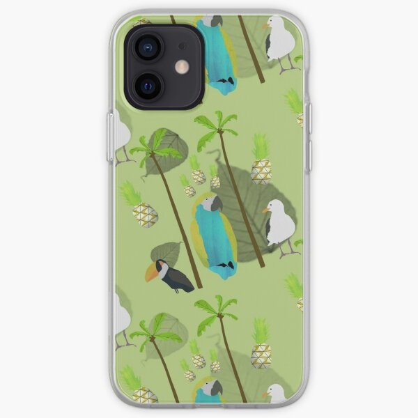 Tropical Birds Pattern iPhone Soft Case