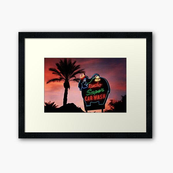 Iconic Palm Springs California Framed Art Print