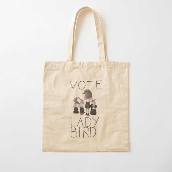 Vote Lady Bird Bolsa de algodón