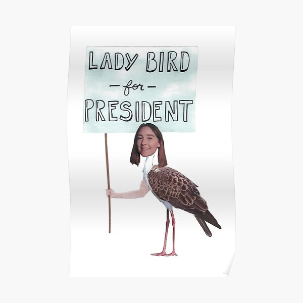 Lady Bird for President Poster
