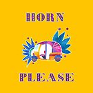 Horn Please - Indian Rickshaw by Cynthia Haller