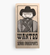 Señor Underpants Canvas Print