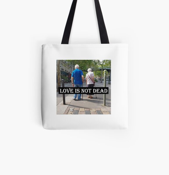 Love is not dead Tote bag doublé