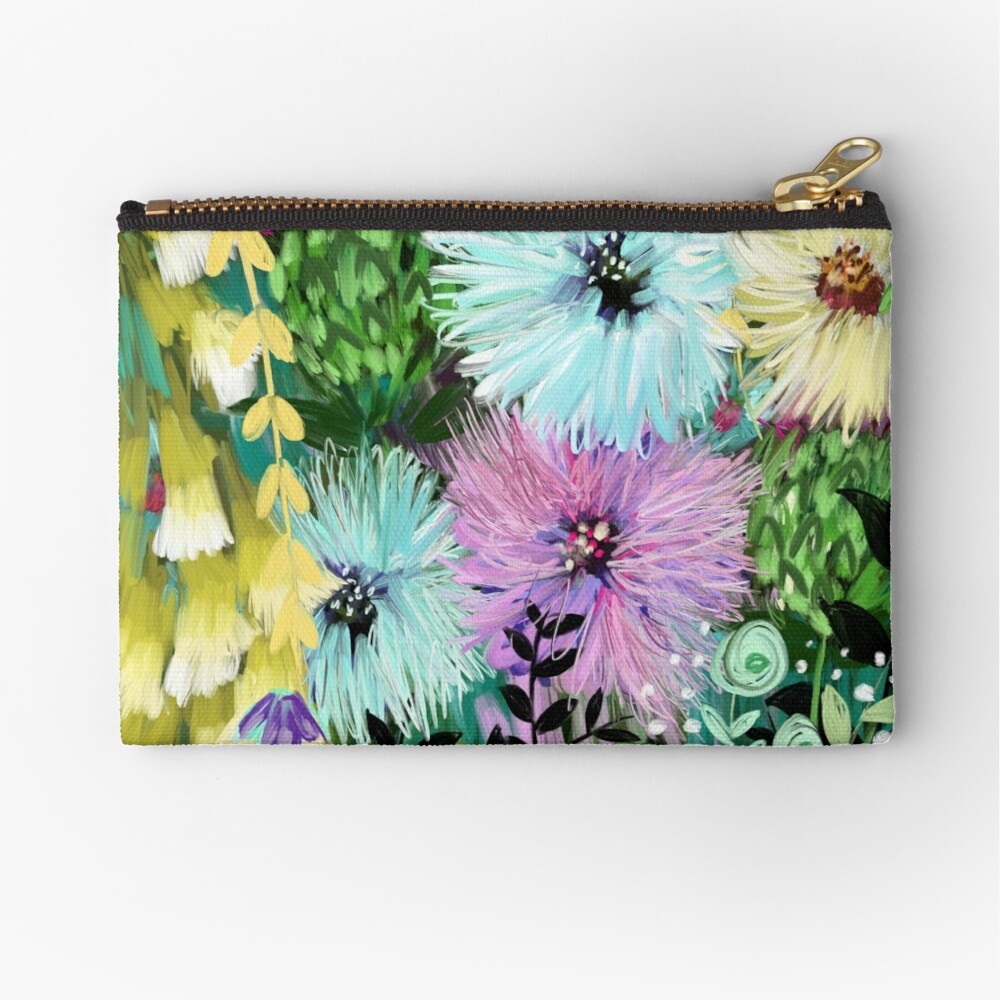 Candy Floral Forest Meadow Zipper Pouch