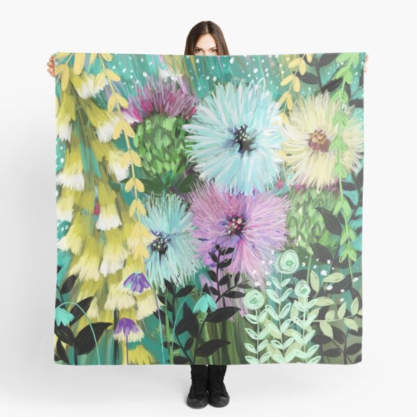Candy Floral Forest Meadow Scarf