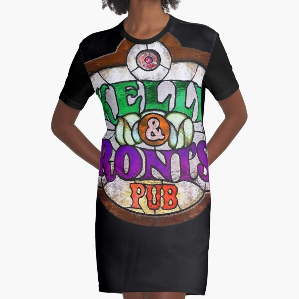 Kelly and Roni Pub Sign Graphic T-Shirt Dress