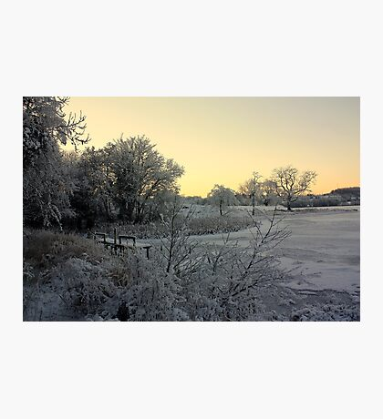 Town Lake - Frozen  Photographic Print