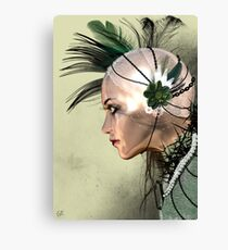 Lady Green Canvas Print
