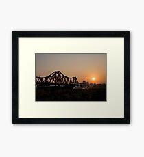 Long Bien Bridge Serenate Framed Print