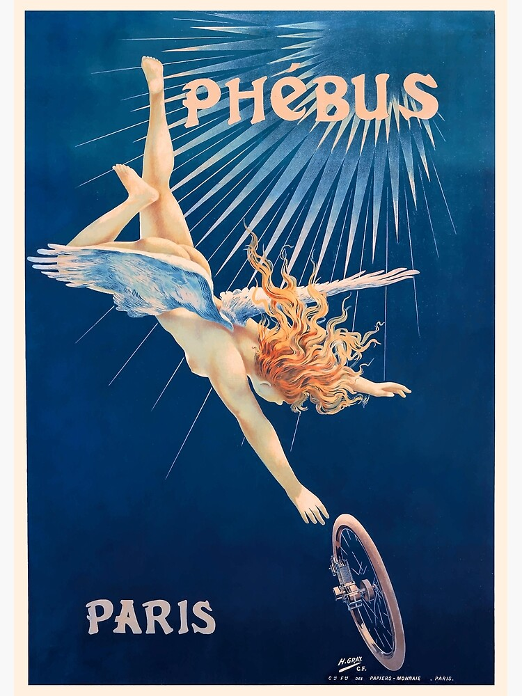 1898 Phebus Bicycles French Advertising Poster by retrographics