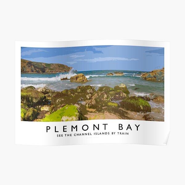 Plemont Bay (Railway Poster) Poster