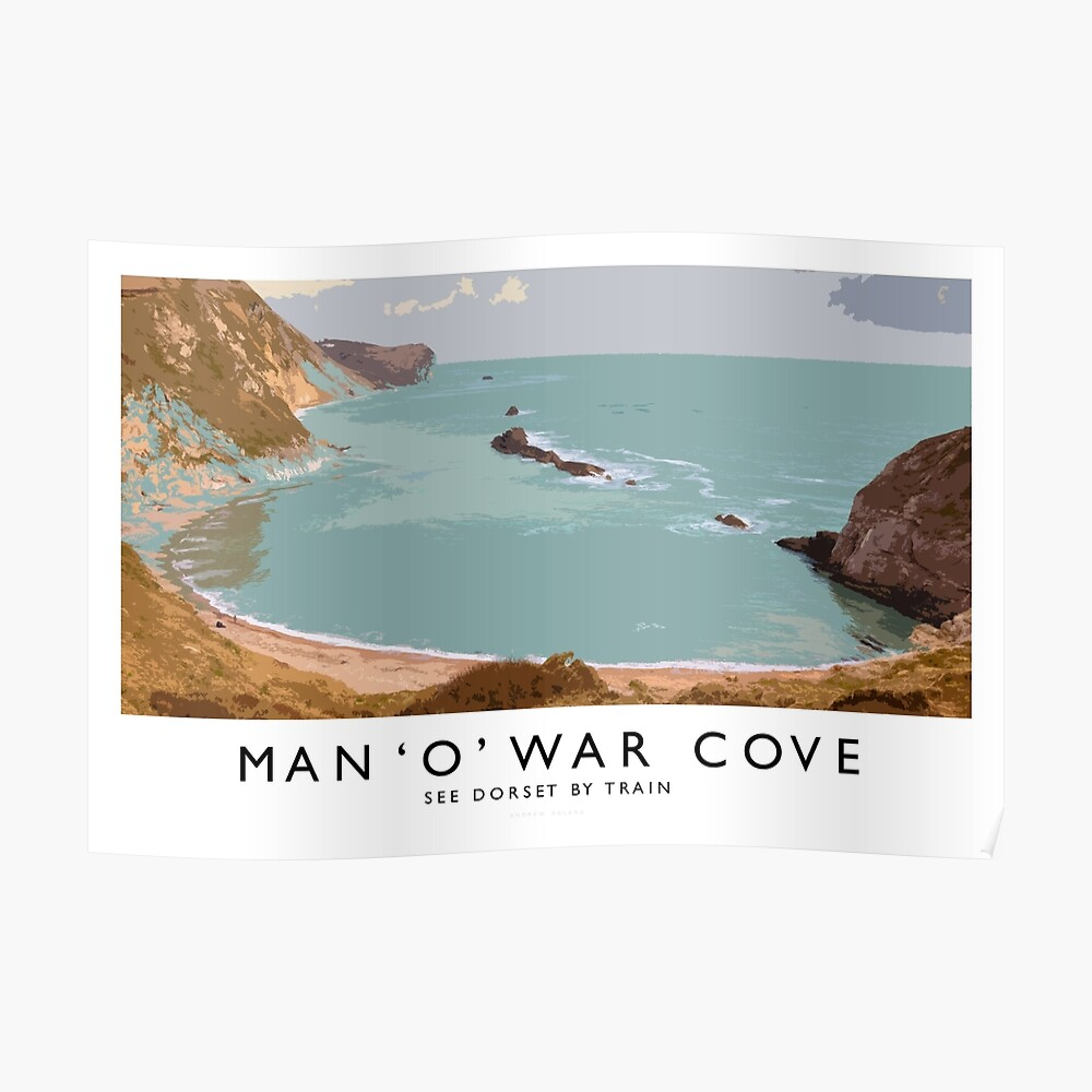 Man 'O' War Cove (Railway Poster) Poster