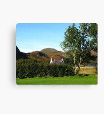 Autumn Cottage At Poolewe Canvas Print
