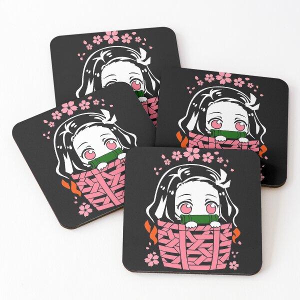 Nezuko Kamado - Kimetsu no Yaiba Coasters (Set of 4)