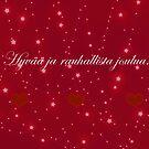 Kaunis Punainen Joulutervehdys by hurmerinta