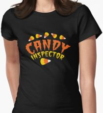 HALLOWEEN funny CANDY INSPECTOR! with candy corn Womens Fitted T-Shirt
