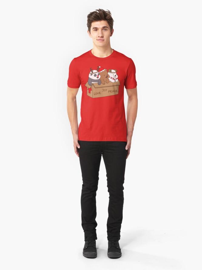 Alternate view of We Bare Bears Love Slim Fit T-Shirt