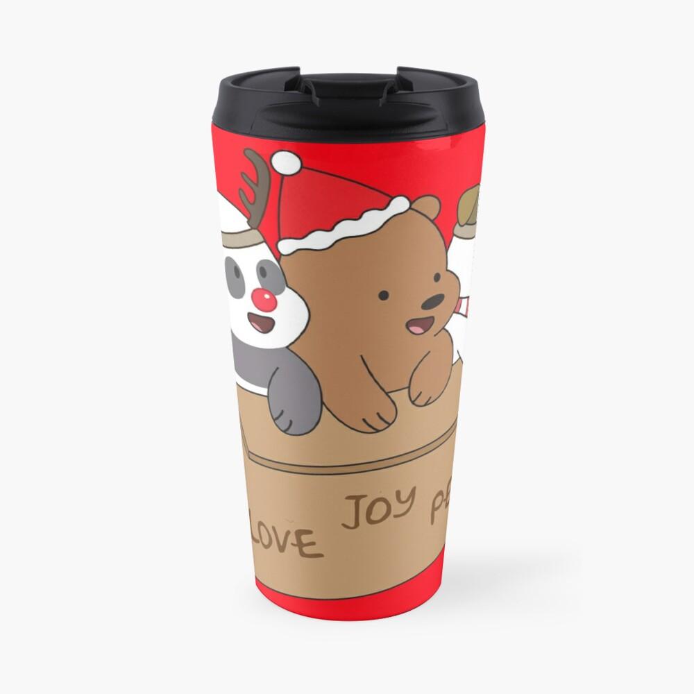 We Bare Bears Love Travel Mug