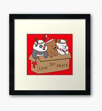 We Bare Bears Love Framed Print
