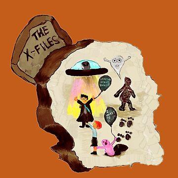 X-files on the rock by olgapanteleyeva