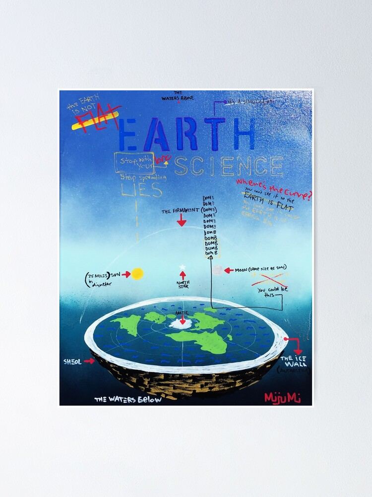 Alternate view of Flat Earth Bro Science Poster