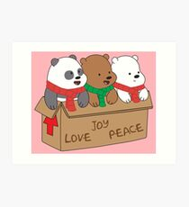 We Bare Bears Love Art Print