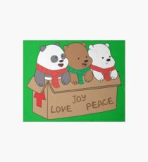 We Bare Bears Love Art Board Print