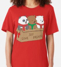 We Bare Bears Love Slim Fit T-Shirt