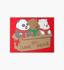 We Bare Bears Love Art Board Print