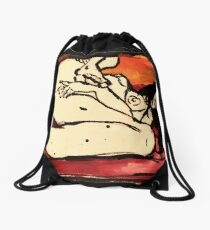 the sun is a lonely lover Drawstring Bag