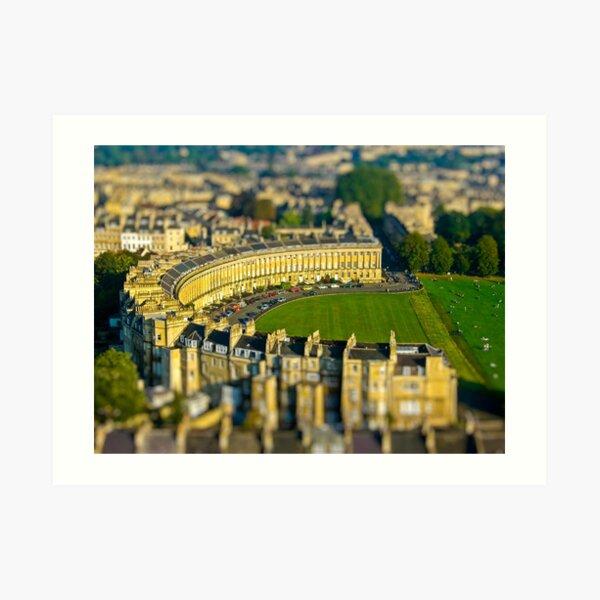 Royal Crescent - Aerial Image of Bath, Somerset, UK Art Print