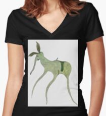 giddy-up Women's Fitted V-Neck T-Shirt