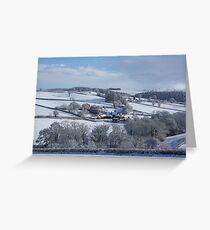 Wintry snowscape in Devon Greeting Card