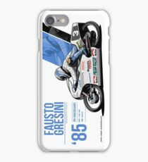 Fausto Gresini -  1985 Spa iPhone Case/Skin