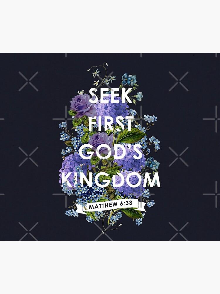 MATTHEW 6:33 (Purple Flowers) by JenielsonDesign