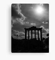 Temple of Saturn Remains Canvas Print