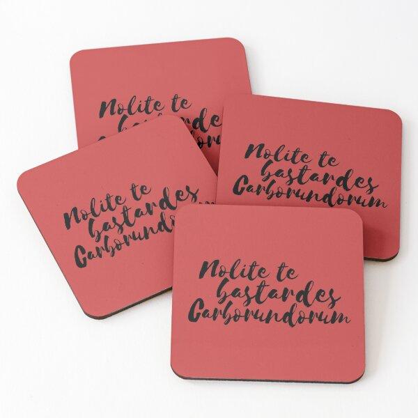 Nolite Te Bastardes Carborundorum Coasters (Set of 4)