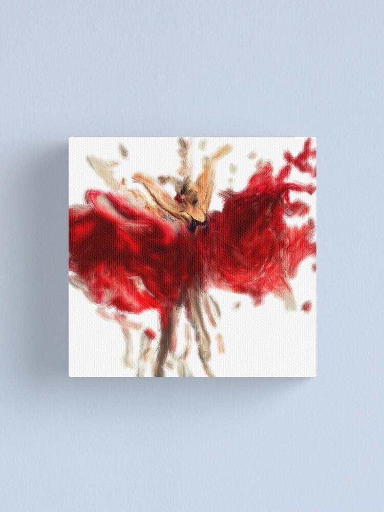 Impression sur toile « elle danse avec grace | peinture abstraite de  danseuse de ballet | elle est une illustration abstraite de danseuse », par  kartickdutta101 | Redbubble