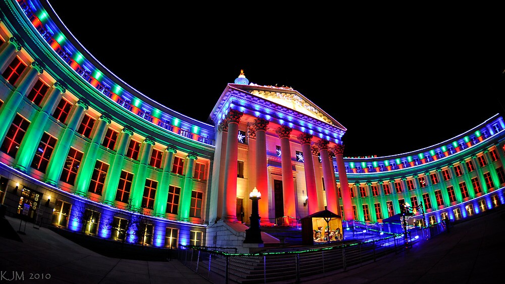 Christmas Lights of Denver Civic Center Park #2 by ShotByAWolf