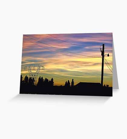 Nightfall Brings Beauty Greeting Card
