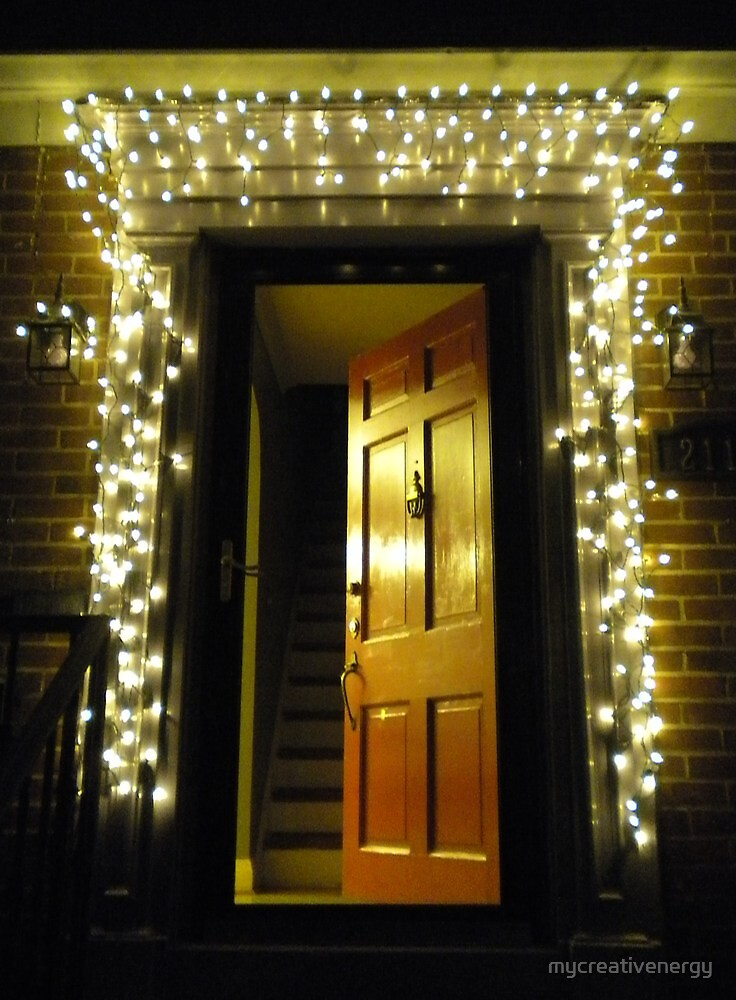 Quot Christmas Lights Around Red Door Quot By Mycreativenergy