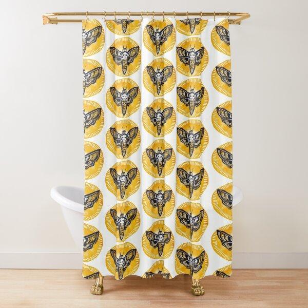 Death Head Moth Shower Curtain
