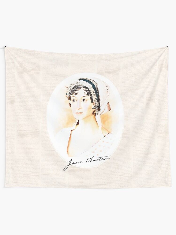 Alternate view of Portrait of a Lady Writer - Jane Austen Tapestry
