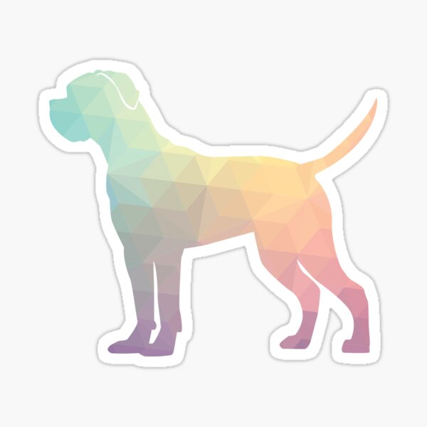 Cane Corso Dog Breed Silhouette Filled with Geometric Pattern in Pastel Sticker
