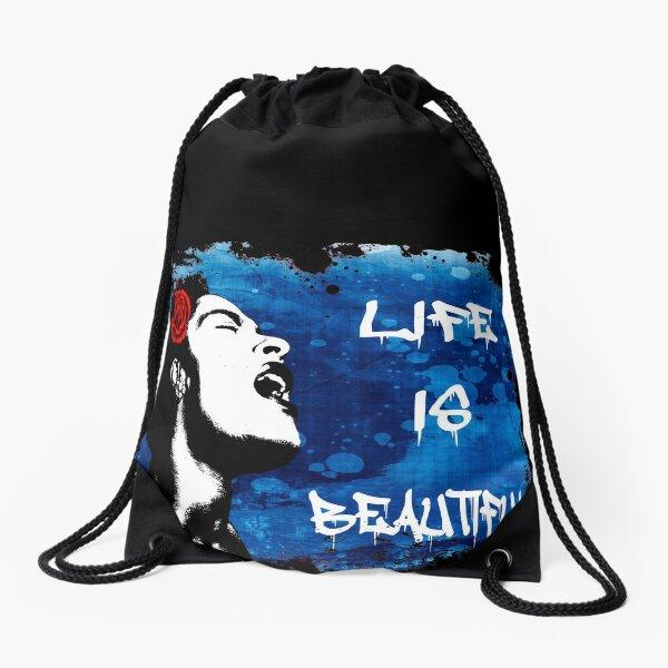 Banksy Life is Beautiful Drawstring Bag