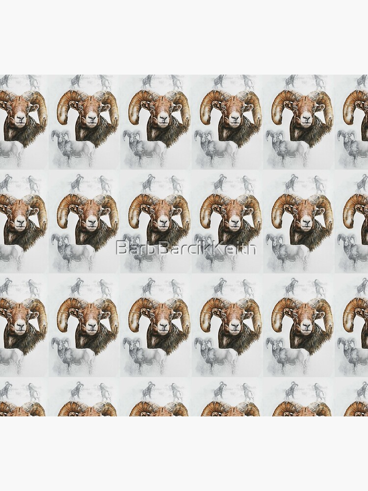 North American Big Horn Sheep Collage by BarbBarcikKeith