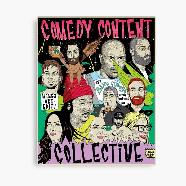 Comedy Content Collective - comedian standup podcast your mom's house congratulations JRE tigerbelly  Canvas Print