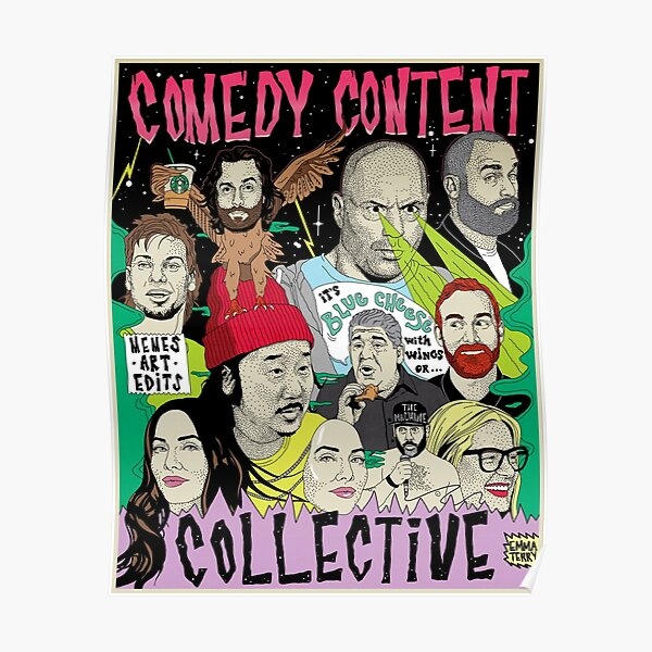 Comedy Content Collective - comedian standup podcast your mom's house congratulations JRE tigerbelly  Poster
